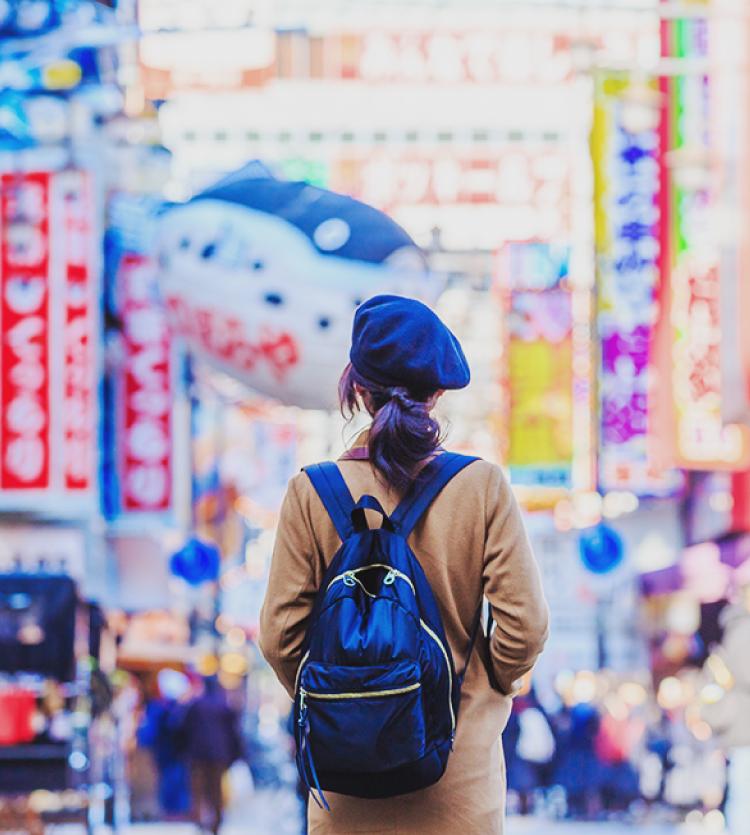 大阪を観光する